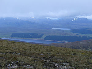 A' Mharconaich - Looking west from the summit across Loch Ericht to Loch Pattack.