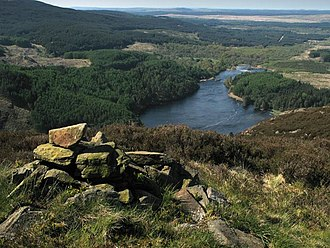 Galloway Hills - Looking south west from Buchan Hill down Loch Trool.