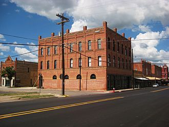 Lockhart, Texas - Another view of downtown Lockhart