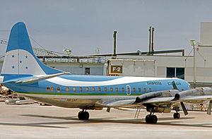 SAHSA - SAHSA Lockheed L-188 Electra combi aircraft operating a mixed passenger-freight schedule at Miami International Airport in July 1976