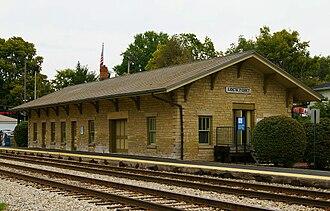 Lockport station (Illinois) - Image: Lockport, IL train station