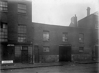 Social work - A Marylebone slum in the 19th century.