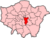 Location of the London Borough of Southwark in Greater London