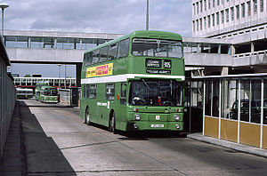 London Country Bus Services - Park Royal bodied Leyland Atlantean in Harlow in August 1979