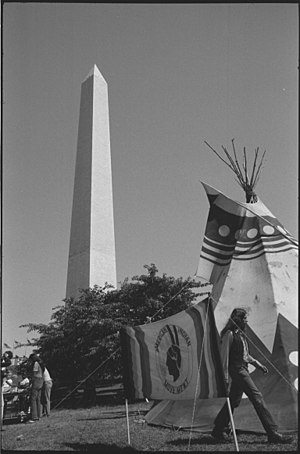 American Indian Movement - An American Indian Movement tipi on the grounds of the Washington Monument