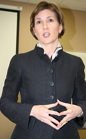 Minnesota Attorney General Lori Swanson speaki...