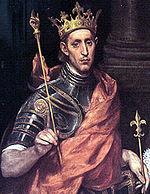 Szent Lajos király (El Greco képén)