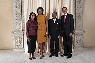 Louis Straker - Louis Straker with Obamas