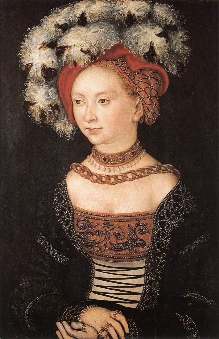 Lucas Cranach d.%C3%84. - Bildnis einer jungen Frau (Galleria degli Uffizi)