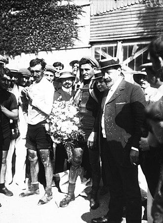 1908 Tour de France - Image: Lucien Petit Breton Tour de France 9 août 1908