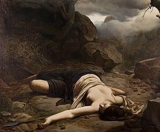 Ludvig Abelin Schou - Image: Ludvig Abelin Schou Chione dræbt på jagten af den krænkede Diana 1866