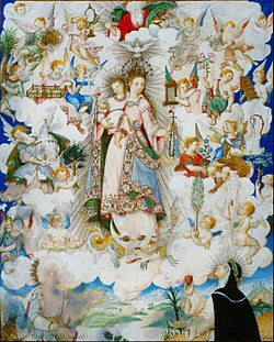 Luis Lagarto - The Virgin of the Rosary with Saint Catherine of Alexandria and Saint Catherine of Sienna - Google Art Project.jpg