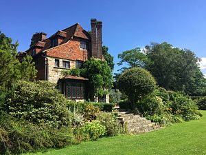 Luxford House - Photo of the South Elevation of the house, as featured on the Van Der Graaf Generator album, Pawn Hearts