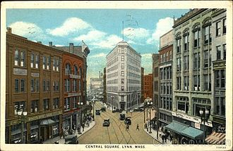 Lynn, Massachusetts - Central Square, c. 1920