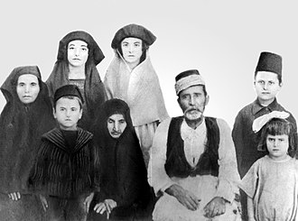 Muhacir - A Turkish family from Crete settled in Izmir, 1923.