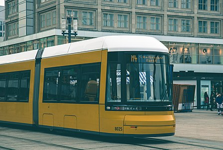 M4 Hackescher Markt Straßenbahn Tram at Alexanderplatz Berlin Germany 15288395514.jpg