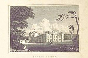 Dundas Castle - Image: MA(1829) p.316 Dundas Castle John Preston Neale