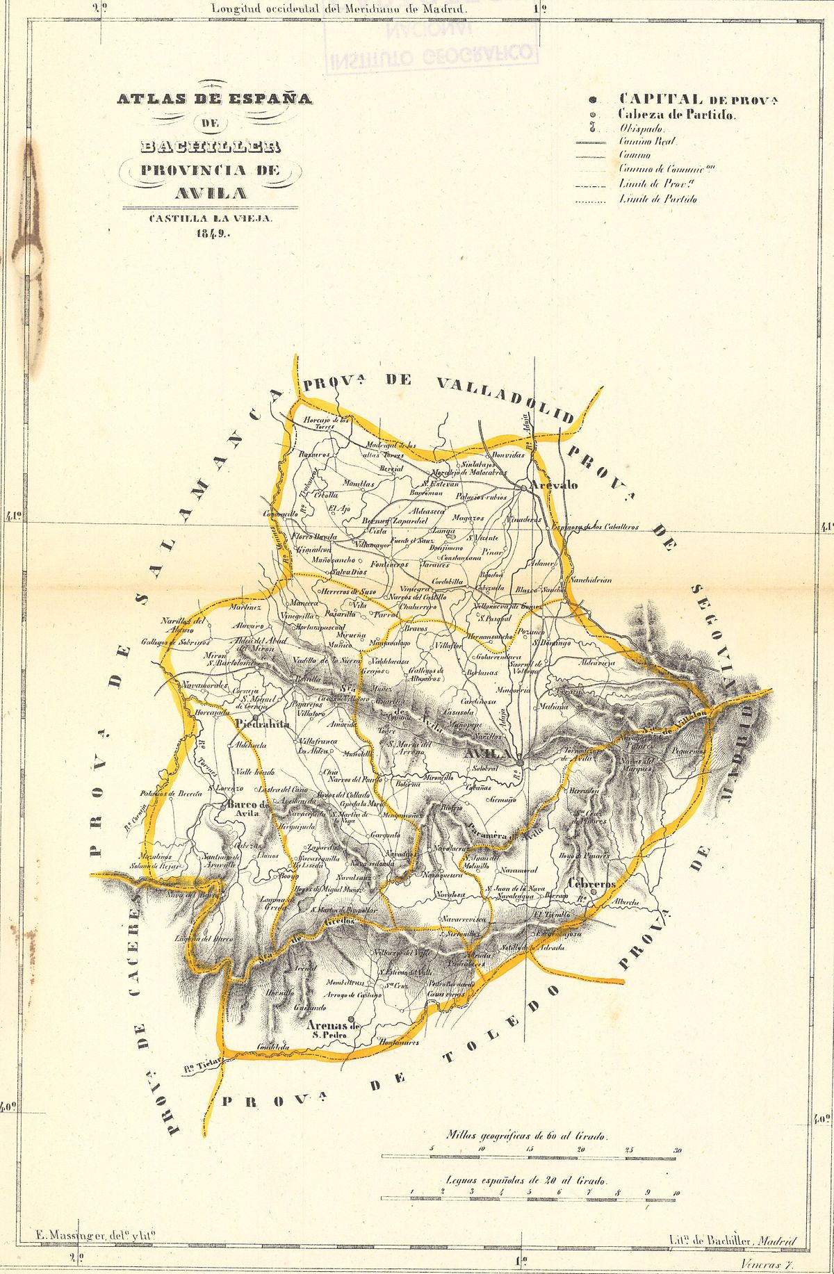 Mapa De Avila Capital.Archivo Mapa De Avila En 1849 Jpg Wikipedia La
