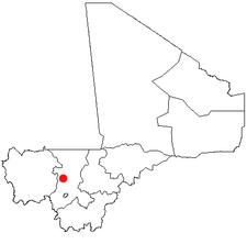 Location of Kolokani in Mali