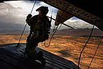 MPOTY 2014 Mi-17 aerial gunner, provides rear security on a Mi-17 helicopter.jpg