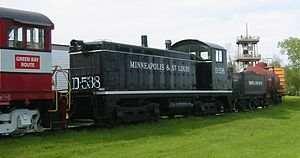 EMC Winton-engined switchers - Minneapolis and St. Louis Railway locomotive D-538 at the National Railroad Museum.