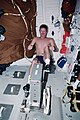 MS Tanner exercises on a cycle ergometer during STS-97.jpg