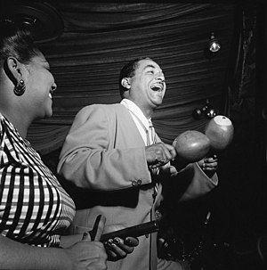 Salsa music - Graciela on claves and her brother Machito on maracas; Machito said that salsa was much like what he had been playing from the 1940s.