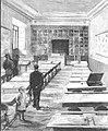 Madrid, Escuela-Modelo, inaugurada el 21 de septiembre de 1885, clase de niñas en el piso principal, de Comba, La Ilustración Española y Americana, 30-09-1885 (cropped).jpg