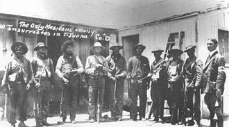 First Battle of Tijuana - Image: Magonistas mexicanos en Tijuana 1911