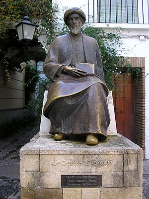 Theology -  Sculpture of the Jewish theologian Maimonides