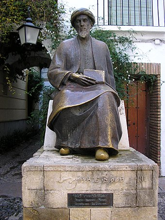 Sculpture of the Jewish theologian Maimonides Maimonides.jpg