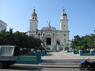 The church in Santaiago de Cuba's main square