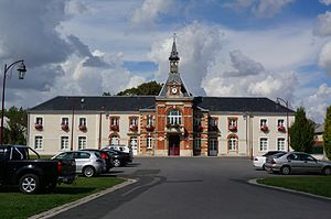Bazancourt, Marne - Town hall.