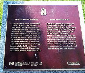 LeBer-LeMoyne House - Commemorative plaque.
