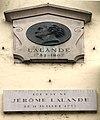Maison natale de Jérôme Lalande - Bourg-en-Bresse (Ain, France) - plaque.JPG