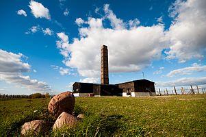 The crematorium in Majdanek concentration camp.