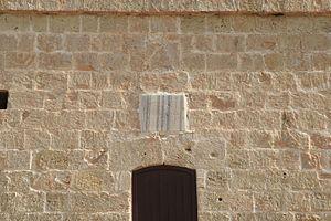 Għallis Tower - Plaque on the tower
