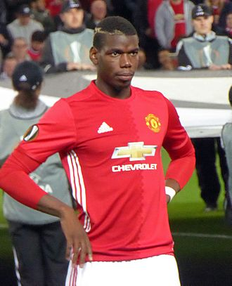 Paul Pogba - Pogba playing for Manchester United during a Europa League game at Old Trafford, September 2016