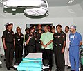 Manohar Parrikar being briefed on facilities at the inauguration of the Cardiothoracic and Vascular Sciences Centre (CVSC), at Army Hospital (R&R), in New Delhi. The Chief of Army Staff, General Dalbir Singh is also seen.jpg