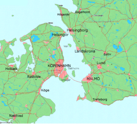 Map of Öresund between Denmark and Sweden.png