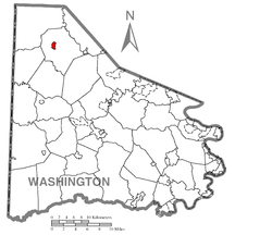 Location of Burgettstown in Washington County