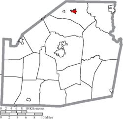Location of Leesburg in Highland County