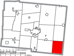 Location of Zane Township in Logan County