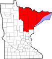 Map of Minnesota highlighting Iron Range.png