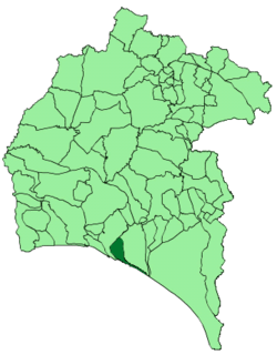 Location of Palos de la Frontera