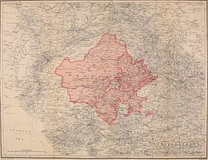 Rajputana - Map of Rajputana or Rajasthan, 1920