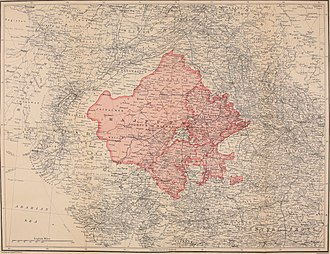Rajputana Agency - 1920 map of Rajputana region.