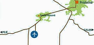 Map of Roads-Pristina Airport.jpg