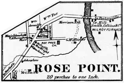 Map of Rose Point in 1872