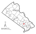 Map of Village Shires, Bucks County, Pennsylvania Highlighted.png